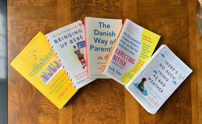 Five parenting and pregnancy books we highly recommend.