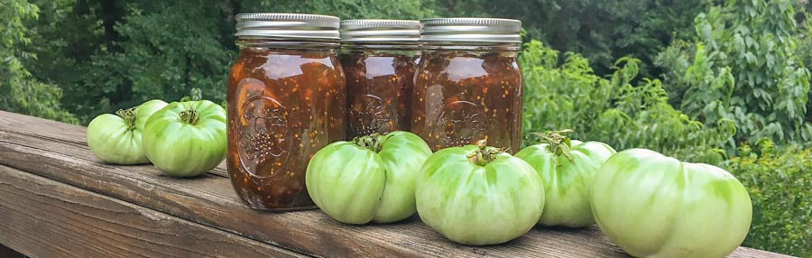 Recipe: Green tomato marmalade with smoked paprika & brandy thumbnail