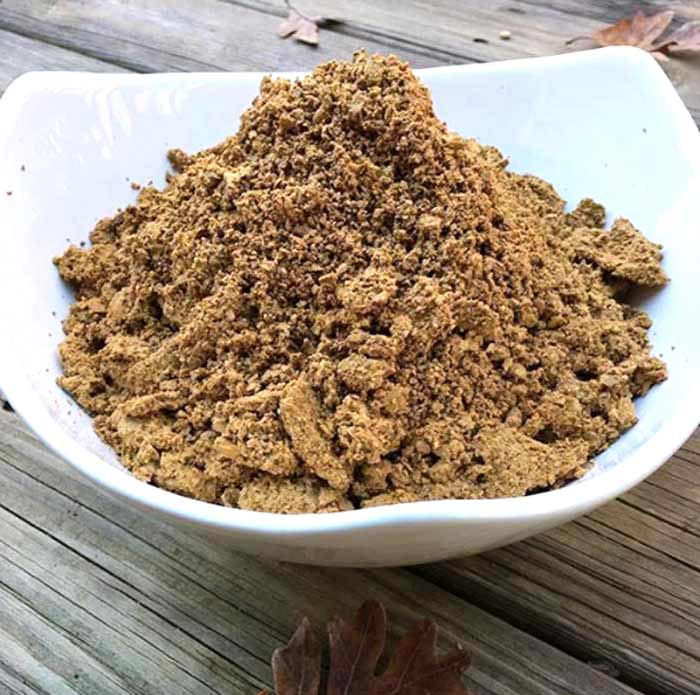 how to make cold leached acorn flour