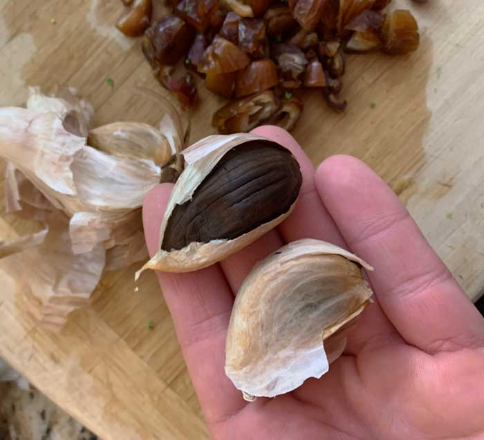 Homemade black garlic is an ingredient we've added to this recipe recently. If you don't have black garlic, regular garlic will do just fine too.