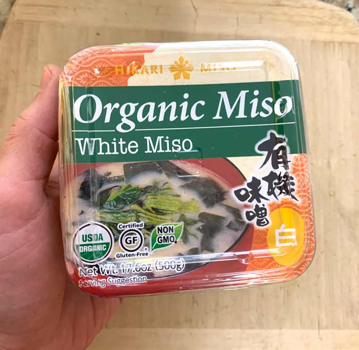 This is an exceptionally good white miso that we use in everything from ramen dishes to the sauce for this broccoli mash recipe.