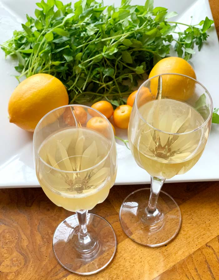 We promise we're not crazy or poor judges of wine character. Yes, chickweed wine is actually quite good!
