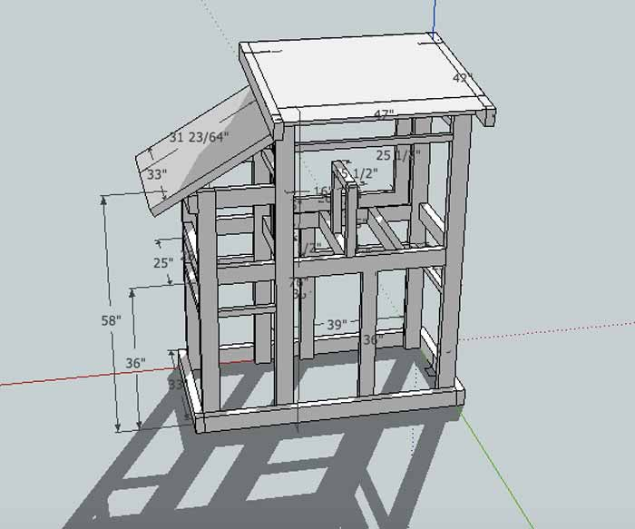 "Our Phase I duck house kitten house castle thingie plan that we rendered in CAD. (By ""we"" I mean Susan, and by ""Susan"" I mean The Tyrant.)"
