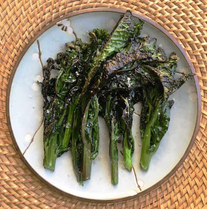 Garden-fresh kohlrabi and kale florets stir fried to perfection.