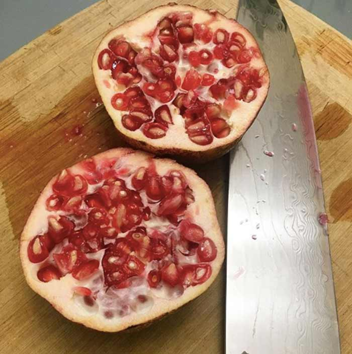 So dang good! Pomegranates straight from the tree.